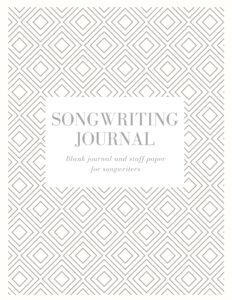 Songwriting Journal Blank Journal and Staff Paper