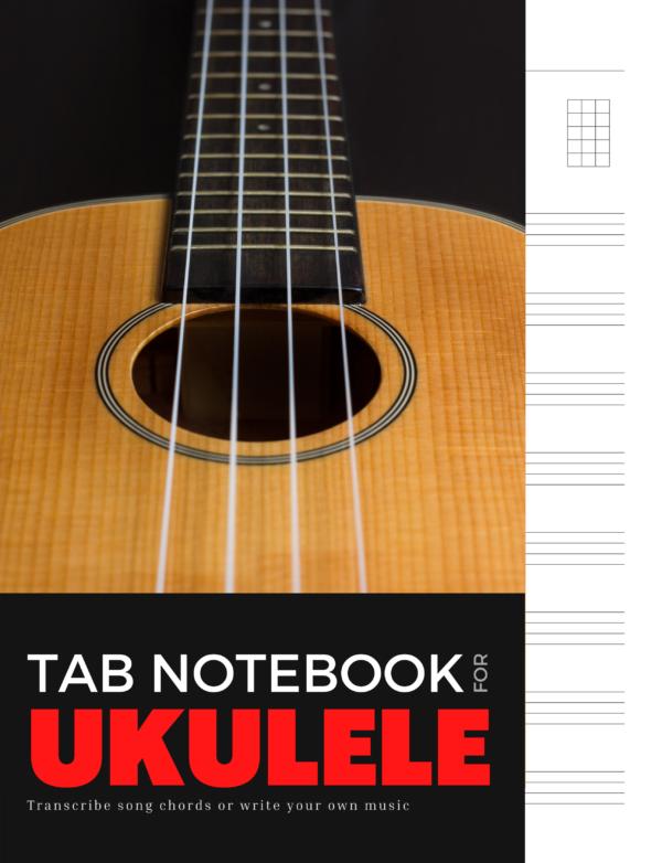 Ukelele Tab Journal Notebook Cover